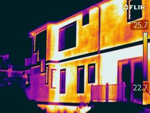 Infrared Building Envelope Survey shows infrared image of latent moisture
