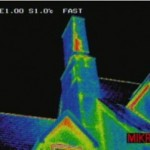 Jersey Infrared Consultans documents abnormal thermal pattern during an infrared inspection of a building envelope