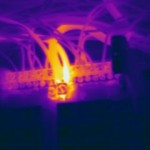 Color thermogram of possible loose connection