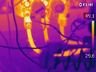 Electrical problem identified with IR Survey