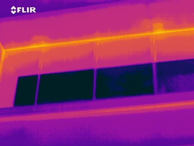 thermal anomalies loaced during IR Building Survey from te exterior