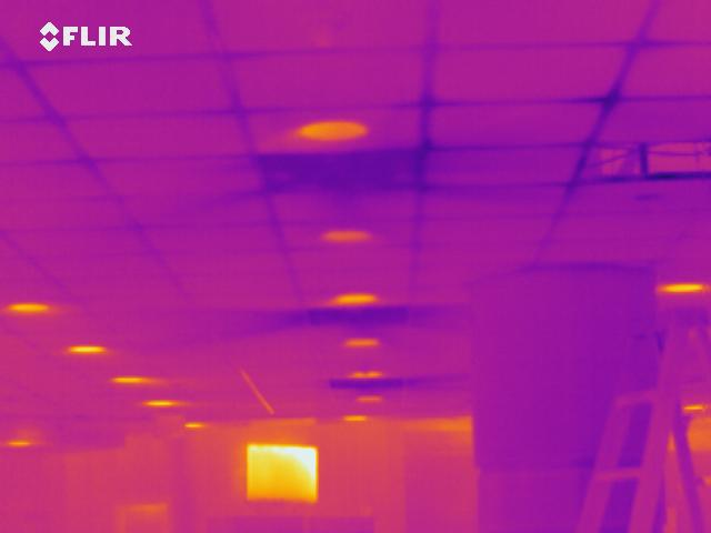 air infiltration located during infrared inspection
