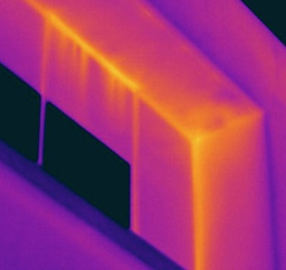 Infrared Flat Roof Moisture Survey infrared image